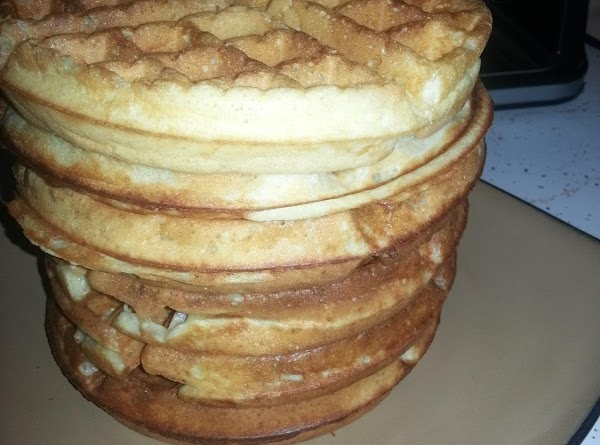 Serve with butter & your favorite maple syrup! Keep pancakes/waffles warm until done cooking...