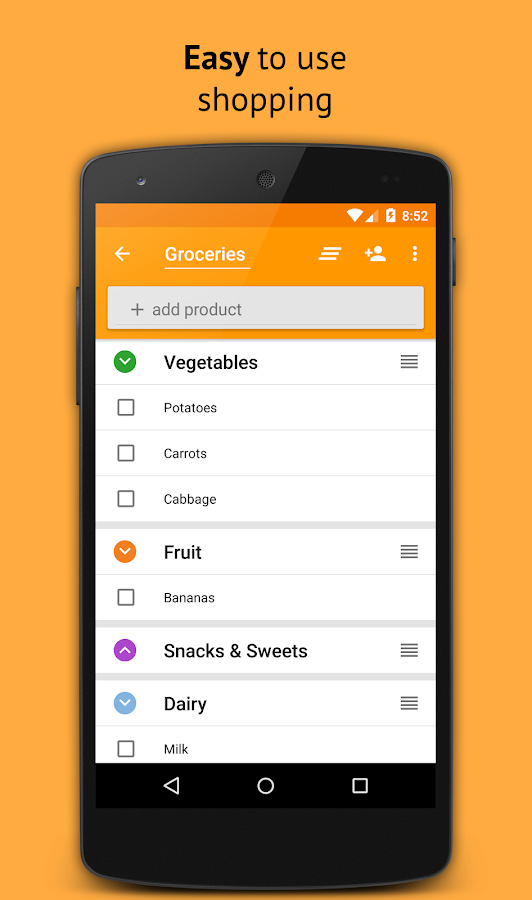 Grocery Shopping List- screenshot