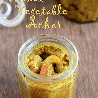 Mixed Vegetable Achar - North Indian Style | Mixed Vegetable Pickle
