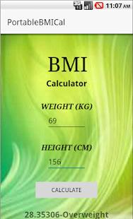 BMICalculator screenshot