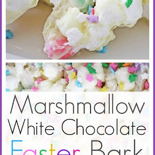 Marshmallow White Chocolate Bark.