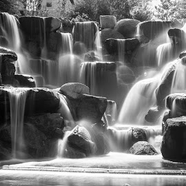 The Waterfall by Time Stood Still Photography - Black & White Landscapes