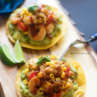 Spicy Chipotle Shrimp & Corn Tostadas