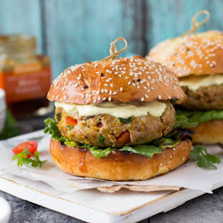 Indian Curry Turkey Burgers