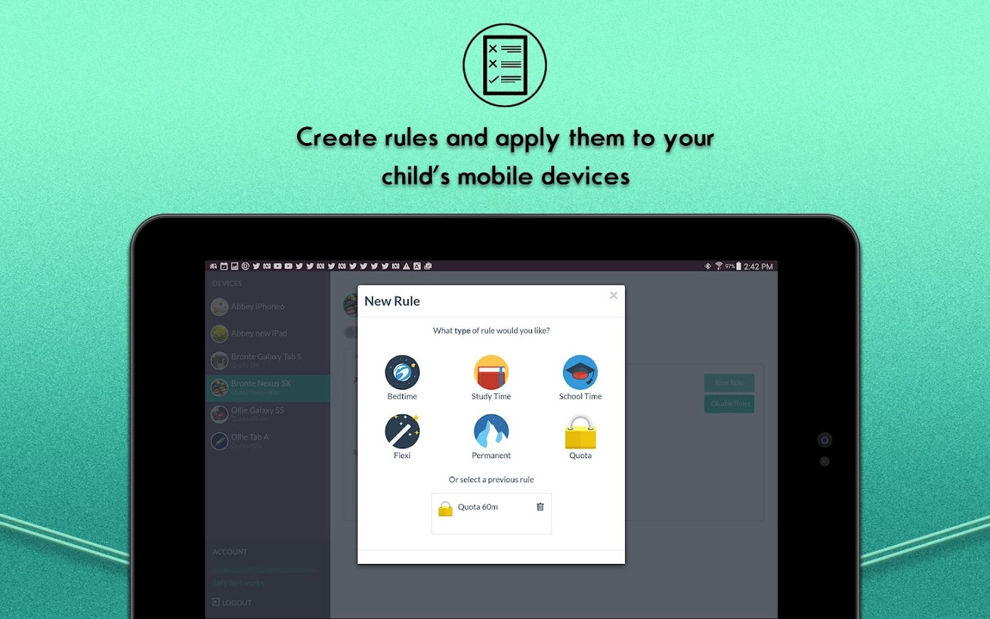 curbi parent- screenshot