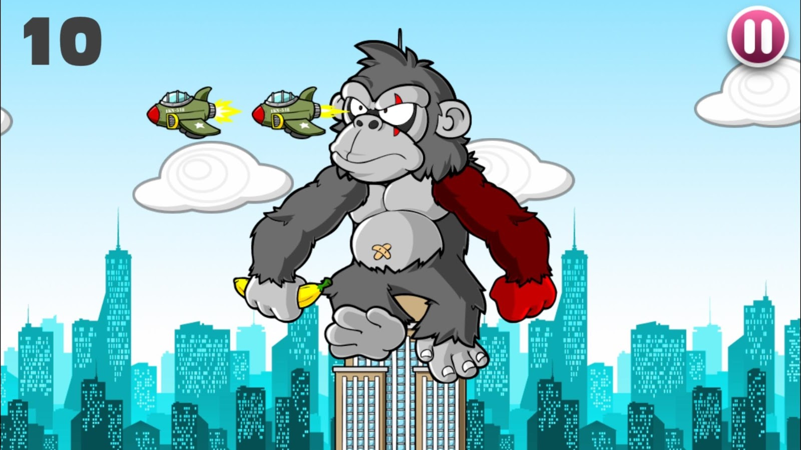 Kong Want Banana: Gorilla game- screenshot