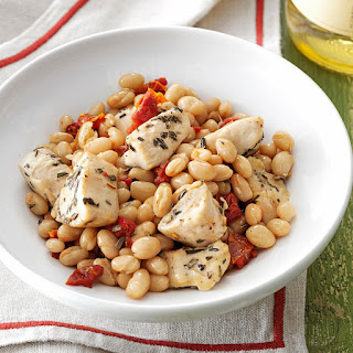 Tuscan Chicken and Beans.