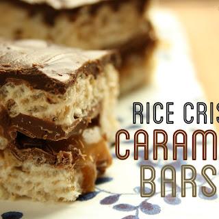 Rice Crispy Caramilk Bars.