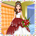Princess wedding girls games icon