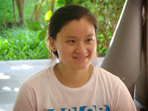 Photo: Bao smiling face, sincere Yoga student