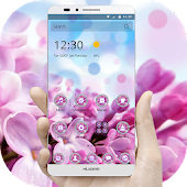 Pink Flowers & Blue Sky Theme
