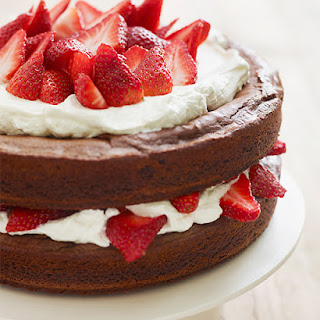 Katie Lee's Strawberry Brownie Layer Cake