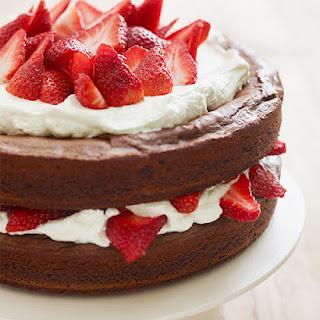 Katie Lee's Strawberry Brownie Layer Cake.