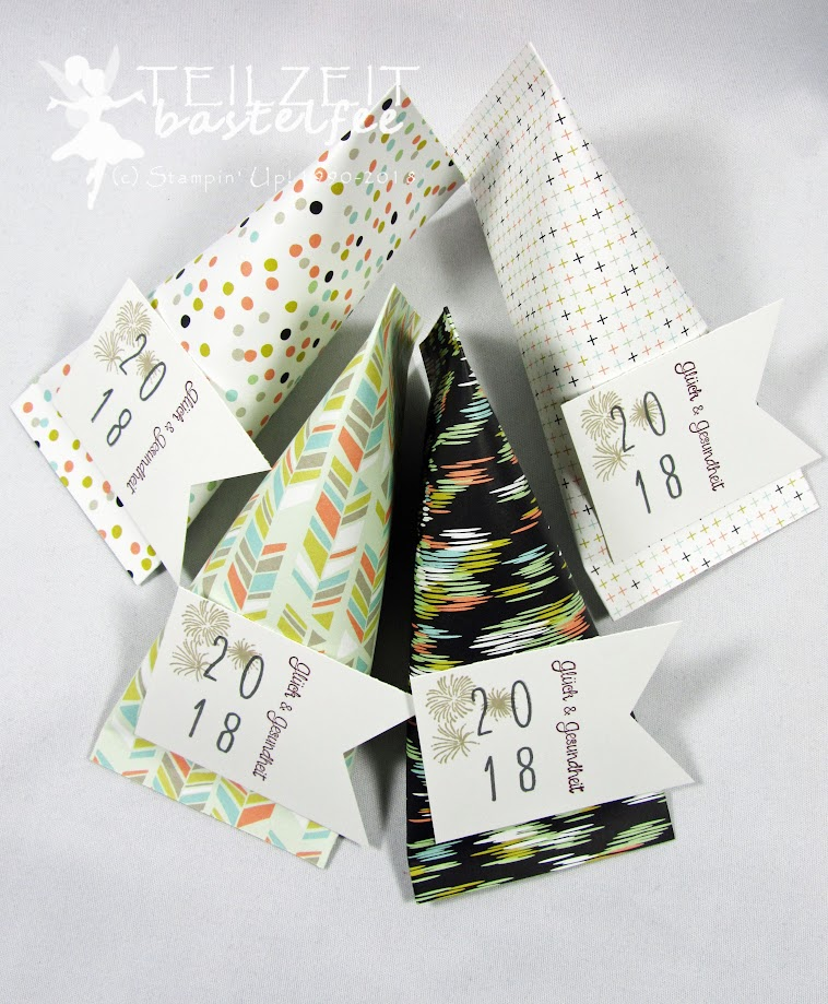 Stampin' Up! - Sour Cream Container, Silvester, Glückskekse, Banner, New Years's Eve, Eins für Alles