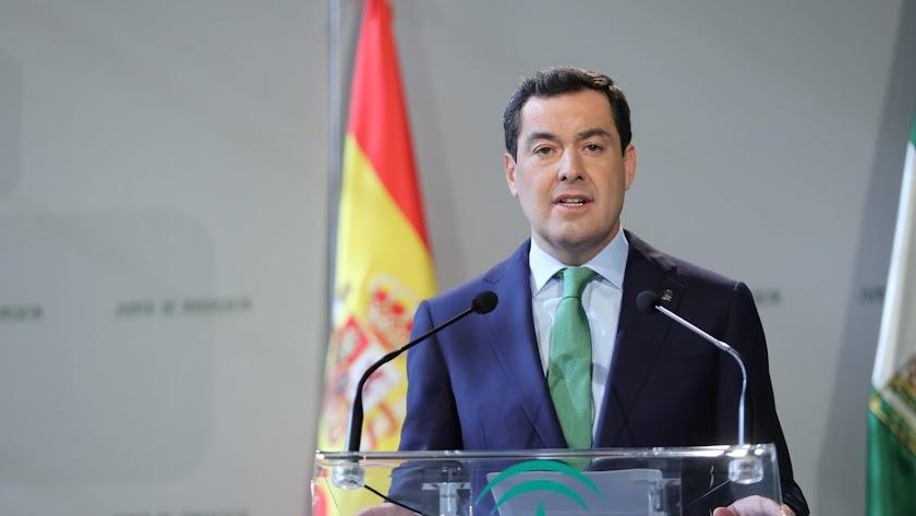 Juan Manuel Moreno Bonilla, presidente de la Junta de Andalucía
