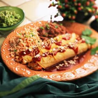 Shrimp Enchiladas with Jalapeño Cream Sauce.