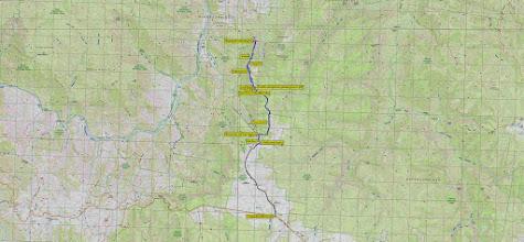 Photo: Blue=Walk 18.1km Black =Drive 5.4km on Wanganderry Rd - GPS Map View from Oziexplorer using OzRaster Map with permission of © BKK Enterprises Pty Ltd, http://www.gpsoz.com.au https://drive.google.com/folderview?id=0B4VFsD8NIhWGVnd2STd2bEV0bGM&usp=sharing