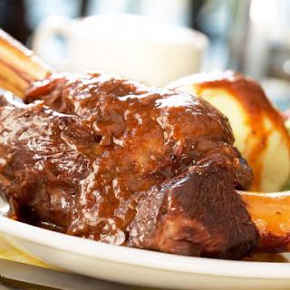 Pressure Cooker Braised Lamb Shank