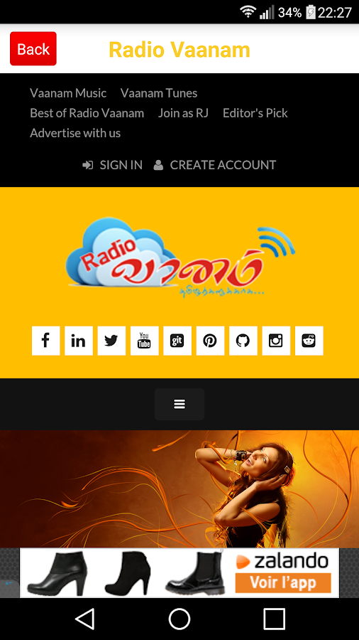 Radio Vaanam – Screenshot