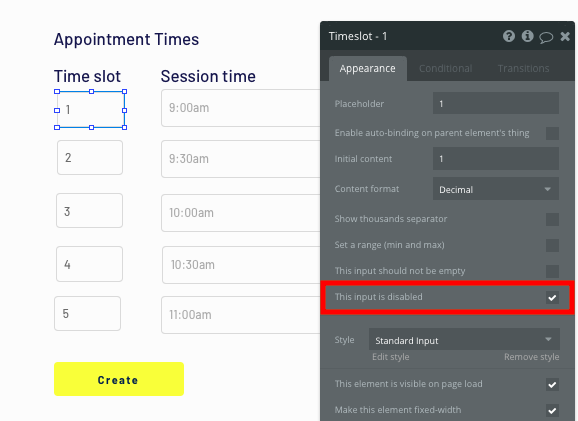 Bubble no code Zocdoc clone tutorial time slot configurations