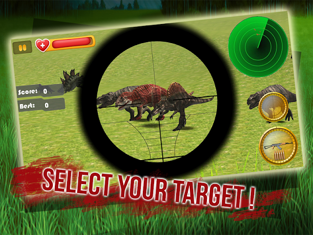 android Dino Sniper Jurassic World 3D Screenshot 2