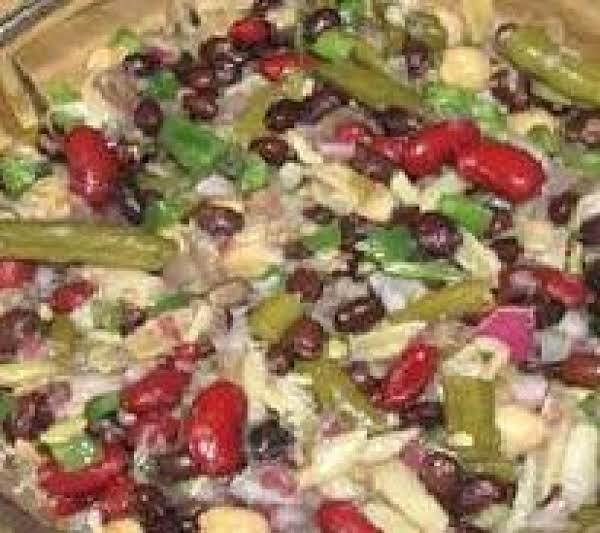 Heart Healthy Crunchy Bean Salad Recipe