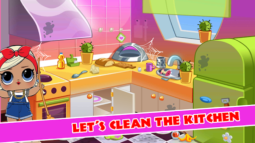 LOL Surprise Doll: Princess House Cleaning Room - screenshot