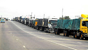 Trucks have to wait for days at the Lebombo border post in Komatipoort.