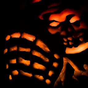 Carved Reaper by Sarah Hauck - Public Holidays Halloween ( pumpkin, spooky, carving, dark, grim reaper, halloween )