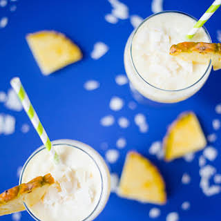Healthy Pina Colada Smoothie + Dairy-Free.