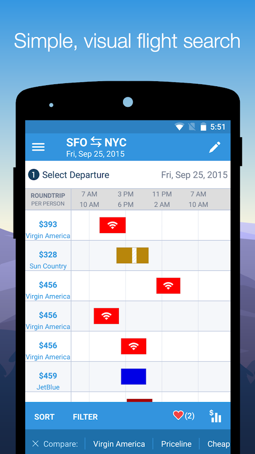 Hipmunk Hotels & Flights - screenshot