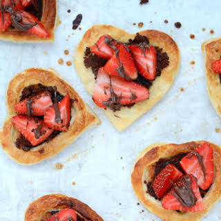 Nutella Strawberry Puff Pastry Hearts.