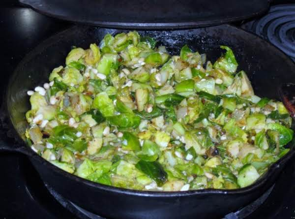 Sautéed Brussel Sprouts With Pinion Nuts