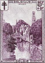 """Photo: """"Les sites"""" (2-12-1929). Quai Vert à Bruges."""