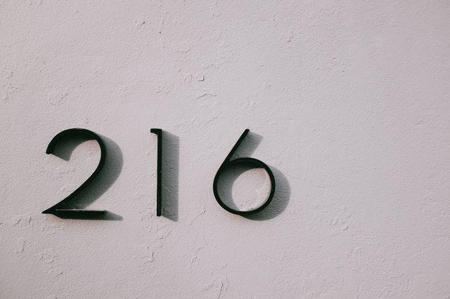 house number 216