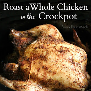 How to Roast a Whole Chicken in the Crockpot Recipe