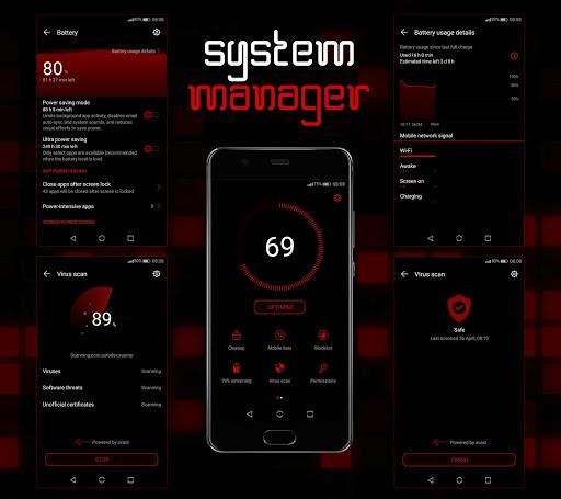 Mosaic Red EMUI 5/8/9 Theme screenshot 5