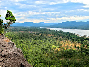 Photo: view of the Mekong River and Laos from the top of Pha Taem cliff