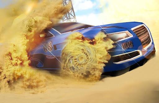 拉力赛沙漠赛车