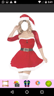 Santa Clause Women Photo Frame - náhled