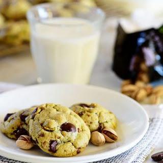Pistachio Cookies with Dark Chocolate and Sea Salt Recipe
