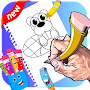 learn how to draw cartoon for kids APK icon