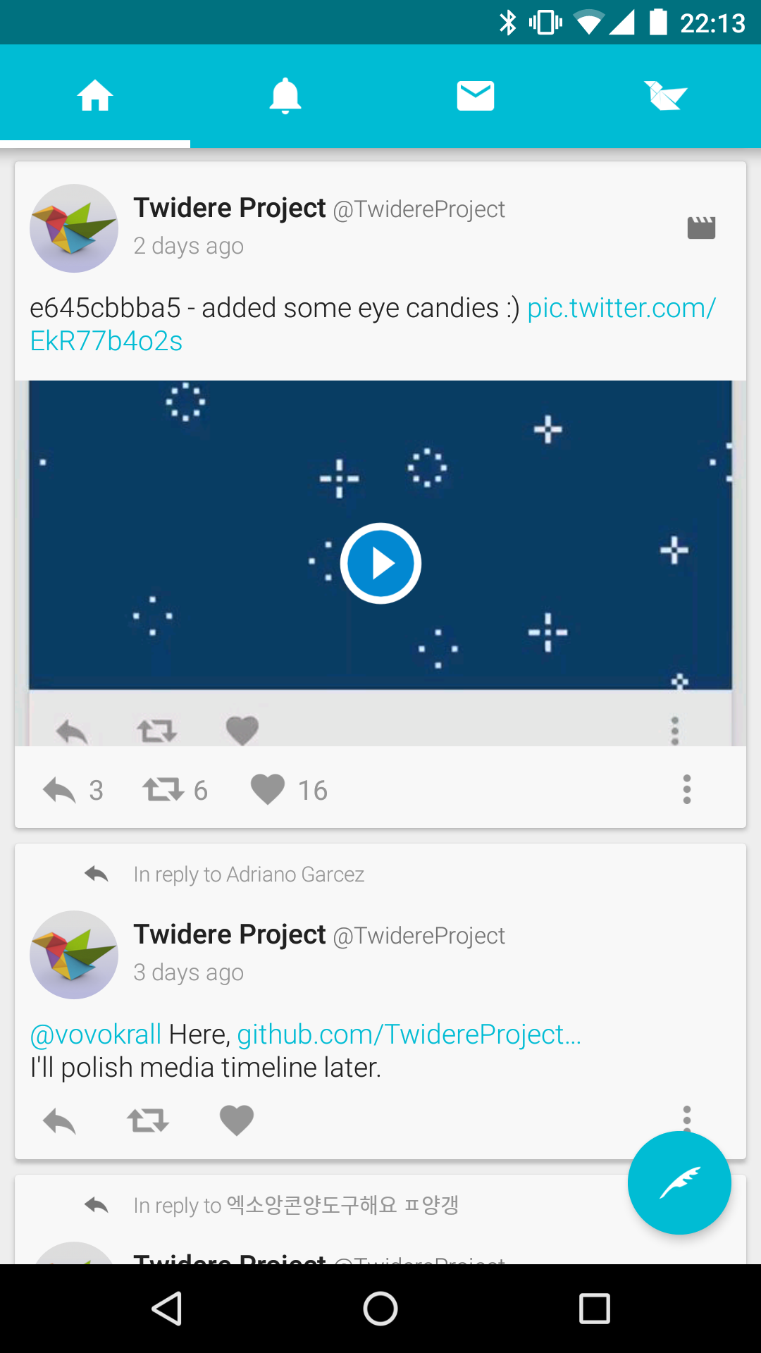 Twidere for Twitter (Android) reviews at Android Quality Index