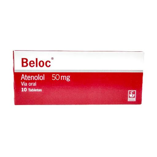 Atenolol Beloc 50 mg 10 Tabletas