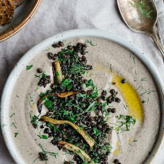 Black Beluga Lentil Hummus W/ Roasted Fennel + Garlic | V + Gf