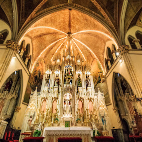 Alter by Angelica Less - Buildings & Architecture Places of Worship ( orange, warm, church, catholic, worship, alter,  )