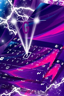 Purple Abstract Keyboard Theme - náhled