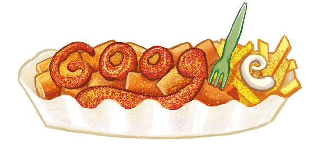 Google Doodle Created for Herta Heuwer, inventor of Currywurst 100th Birthday