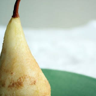 Cider-Poached Pears for Fall.