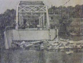 Photo: The Unionville Bridge suffered massive damage in the floods.